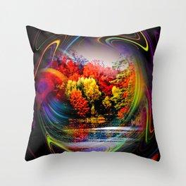 Abstract Perfection 42 Autumn Throw Pillow