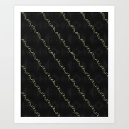 Gold Ribbon Art Print