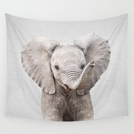 Baby Elephant - Colorful Wall Tapestry