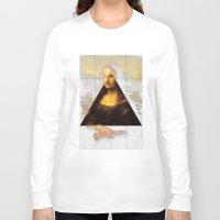 mona lisa Long Sleeve T-shirts featuring MONA LISA by Ancient