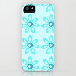 Happy Place Blue Flowers iPhone Case