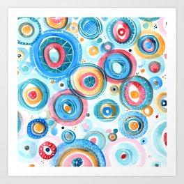 Bubbly Confetti Art Print