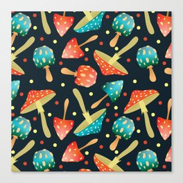 Bright mushrooms Canvas Print