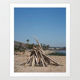 San Buenaventura State Beach V Art Print
