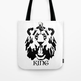 Royalty - Black on white Tote Bag