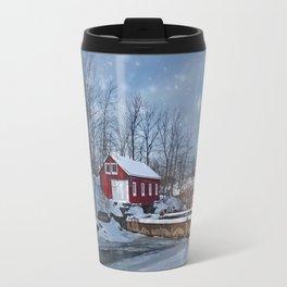 Morningstar Mill in Winter Travel Mug