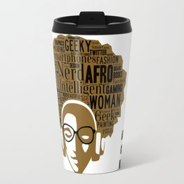 Afro Nerd Girl Travel Mug
