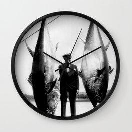 World Record Tuna - Thon record Wall Clock
