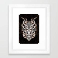 Siren Skull Framed Art Print
