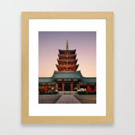 Five-Storied Pagoda at Sensoji Temple Fine Art Print Framed Art Print
