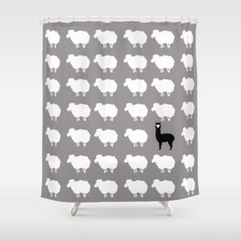 Don't be a sheep, Be a Llama Shower Curtain
