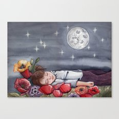 Sofía dreaming with Peppa Pig Canvas Print