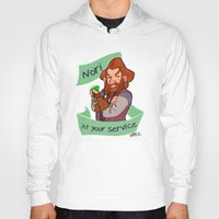 nori Hoodies featuring Nori at Your Service  by Hattie Hedgehog