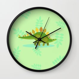 Stegosaurus, Dude Carried His Kitchenware on His Back Wall Clock