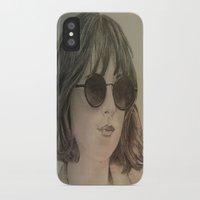 allyson johnson iPhone & iPod Cases featuring DAKOTA JOHNSON by Virginieferreux