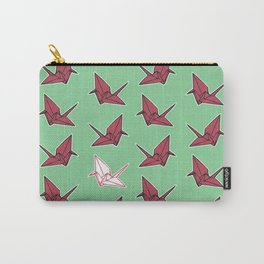 PAPER CRANES RASPBERRY MINT Carry-All Pouch