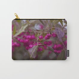 Fruits of Autumn in bold pink Carry-All Pouch
