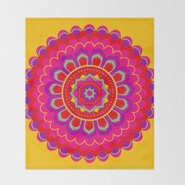 Masala Mandala Throw Blanket