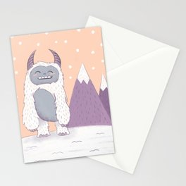 Yeti in the Mountains Stationery Cards