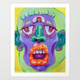 LadyHead II Art Print