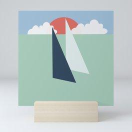 Regatta pastel Mini Art Print