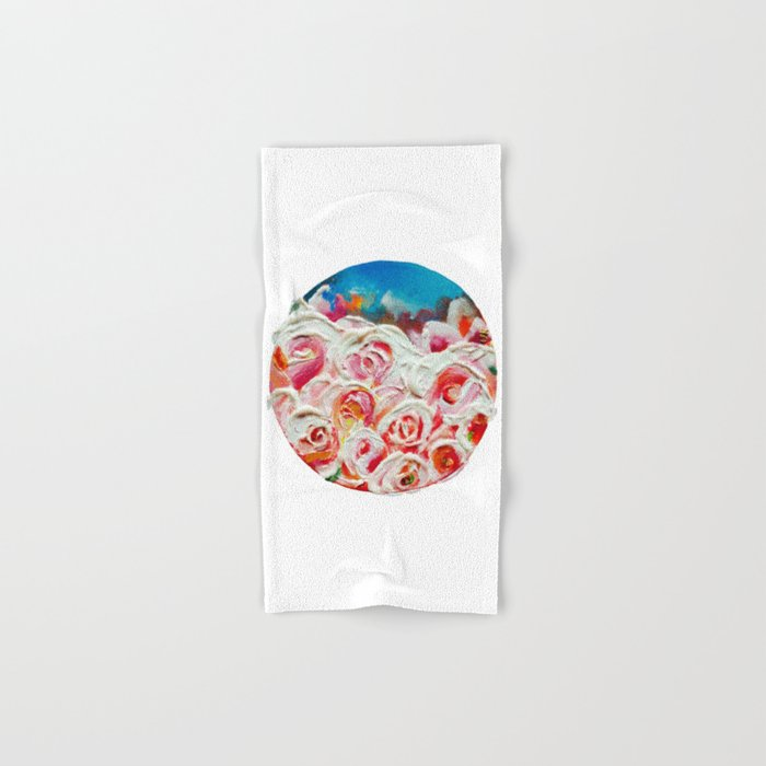 Roses on Fire Hand & Bath Towel