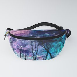 Black Trees Colorful SpacE Fanny Pack