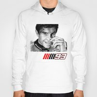 marc johns Hoodies featuring The champ Marc Marquez by Mike Sarda