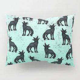 Grey Coyote Pillow Sham