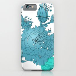 Blush floral turquoise iPhone Case