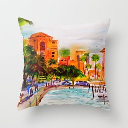 The Vinoy Hotel St. Pete Florida Throw Pillow