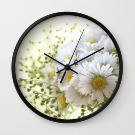 Bouquet of daisies in LOVE - Flower Flowers Daisy Wall Clock