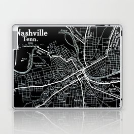 Vintage Nashville Black Laptop & iPad Skin