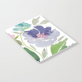 Purple and Pink Peonies Notebook