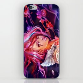 Sakura girl iPhone Skin