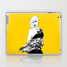 Arbitrary - Badass girl with gun in comic and pop art style Laptop & iPad Skin