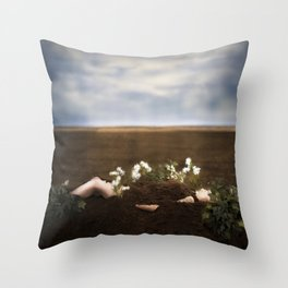 Pushing Up Daisies Throw Pillow