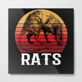 Retro Vintage Rat House Mouse Rodent Rat Metal Print