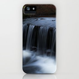 Waterfall in the park iPhone Case