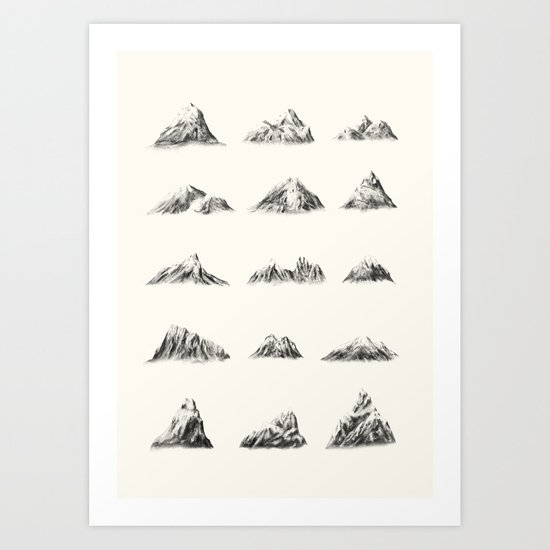 Snowcapped Art Print