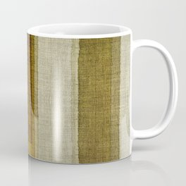 """Burlap Texture Greenery Columns"" Coffee Mug"