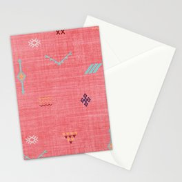 Cactus Silk Pattern in Pink Stationery Cards