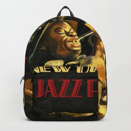 Vintage New Orleans Jazz Festival Advertising Wall Art Backpack