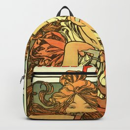 "Alphonse Mucha ""Cycles Perfecta"" Backpack"