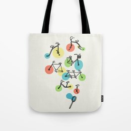Riding Bubbles Tote Bag