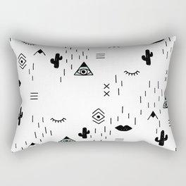 Indian summer aztec mayan symbol pattern Rectangular Pillow