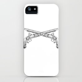 Double Pistols iPhone Case