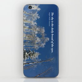 The sky is the daily bread of the eyes iPhone Skin