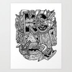 Geometric Mutations: Kansas City, MO Art Print