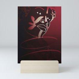 Ebony Red Mini Art Print